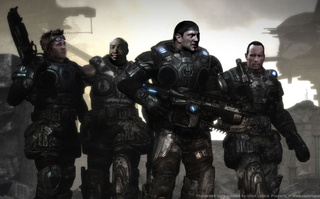 gears of war starring terry tate two rasslers and batman