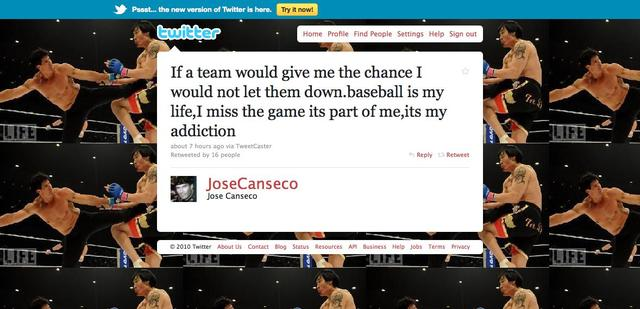 Jose Canseco Officially Entered The End Stages Of Desperation