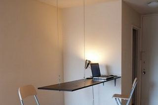 Repurpose a  Door into a Suspended Workspace