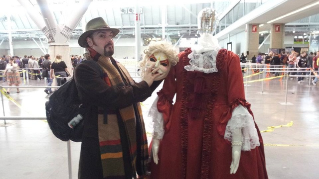 Doctor Who clockwork android cosplay is delightfully creepy