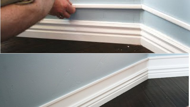 Bulk Up Your Baseboards with Wood Trim and Paint