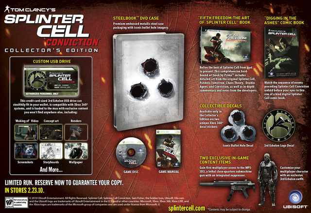 Splinter Cell Conviction Gets Collector's Edition, Night Vision Not Included