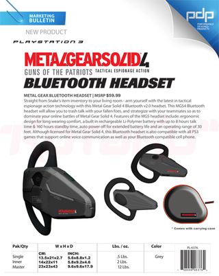 Metal Gear Solid 4 Bluetooth Headset Takes Crown For Best Headset Ever