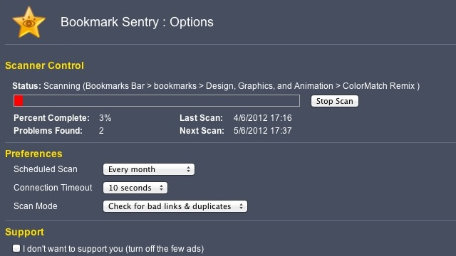 Click here to read Bookmark Sentry for Chrome Cleans Up Your Bookmarks, Eliminates Bad Links and Duplicates