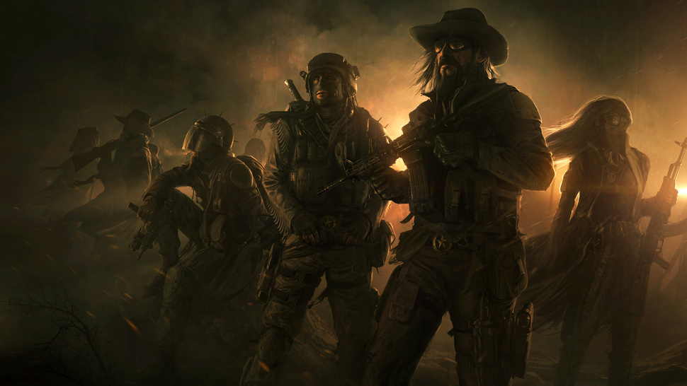 The First Concept Art for <em>Wasteland 2</em> Peers Off in the Dusty, Dusky Distance