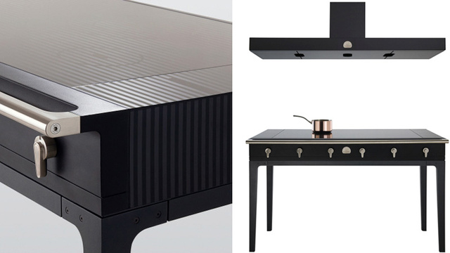 This Beautiful Induction Cooktop Table Makes Slaving Over a Hot Stove a Pleasure