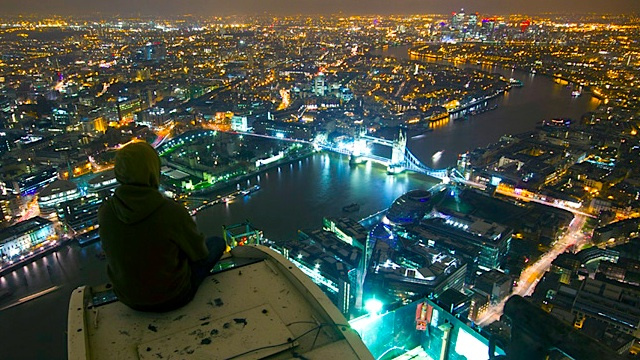 What it's like to (illegally) climb London's tallest building