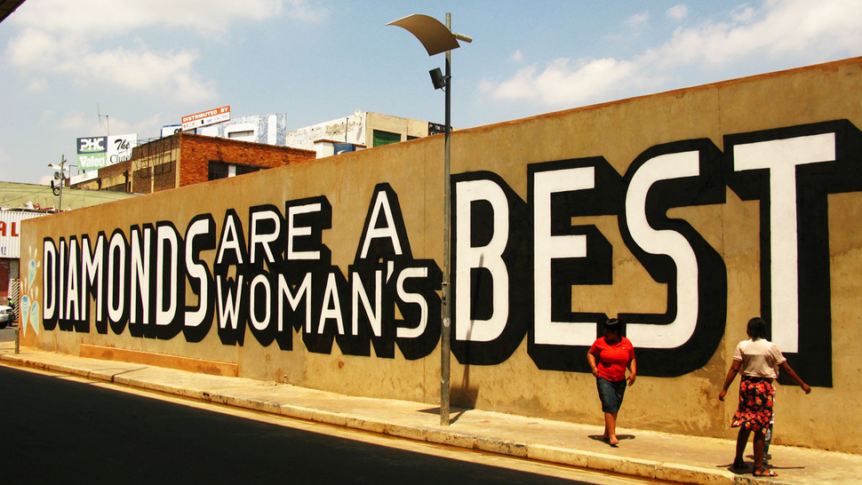 Street Artist Tricks South African Diamond Exporter Into Sponsoring Anti-Diamond Mural