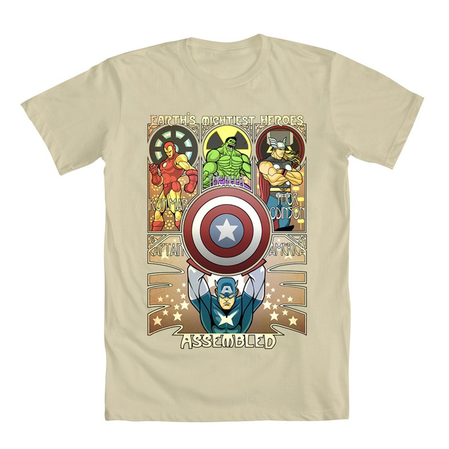 Stunning Avengers art T-shirts will make your torso twice as heroic