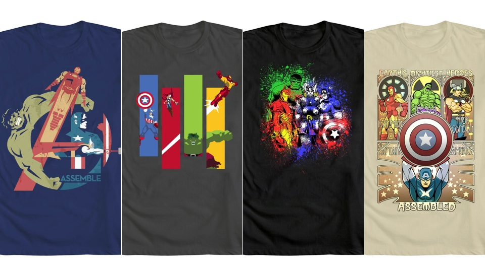 Click here to read Stunning <em>Avengers</em> art T-shirts will make your torso twice as heroic