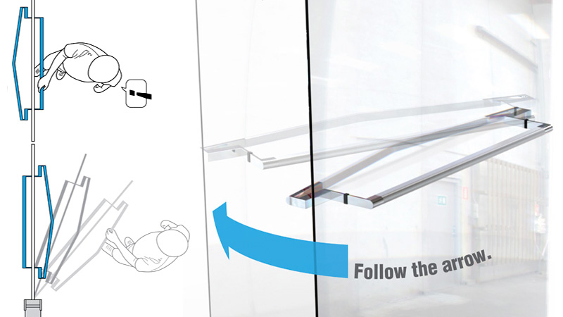Click here to read Arrow-Shaped Handles Means You'll Never Yank On a Push Door Again