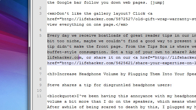 Louder Headphones, Text Selection, and the Google Bar