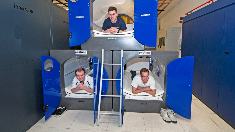 Data Centers Will Be Manned By Engineers Sleeping in These Pods During the Olympics