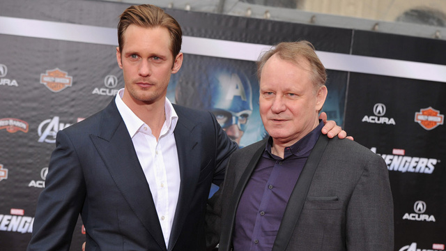 Stellan and Alexander Skarsgard Share a Father-Son Moment