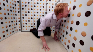The World's Most Disgusting Elevator Has Lickable Cookie Wallpaper