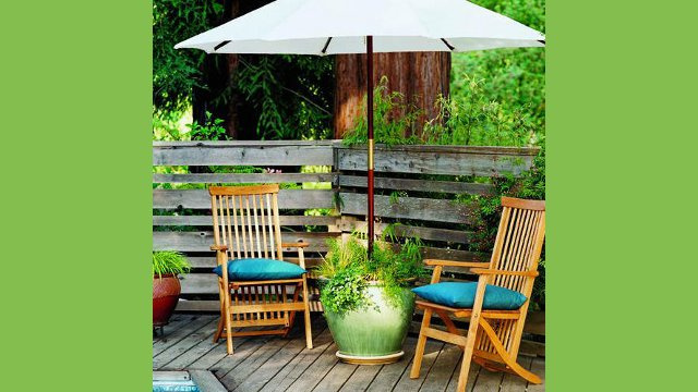 DIY Planter Patio Umbrella Stand