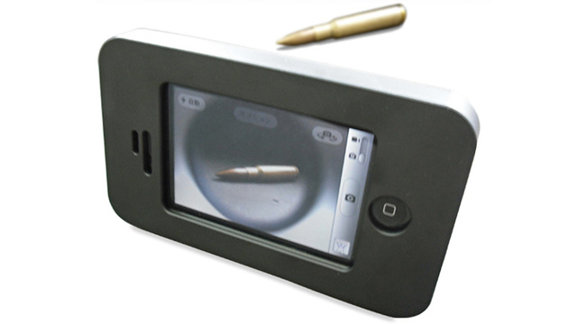 Heavily Armored iPhone Case Can Stop A .50 Caliber Round