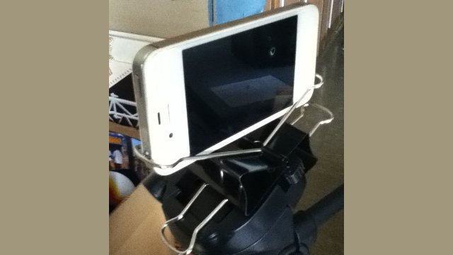 Click here to read Make a DIY iPhone Tripod Mount with Two Binder Clips