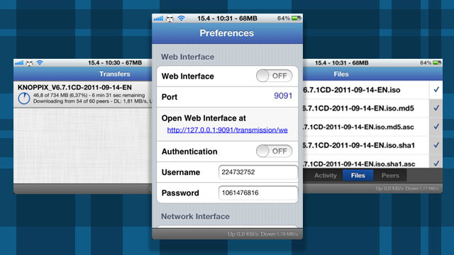iTransmission Updates with Support for iOS 5 and New Download Options