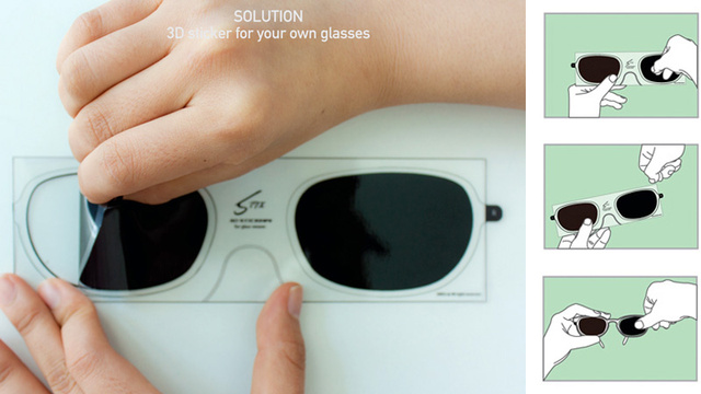Peelable Polarized Lenses Turn Any Specs Into 3D Glasses
