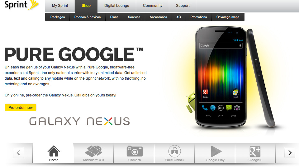 Click here to read Sprint's Galaxy Nexus Will Launch Next Week for $100 Less Than Verizon Model
