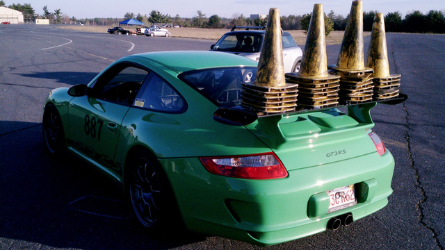 A Porsche That Drops Construction Cones Like It's Its Job