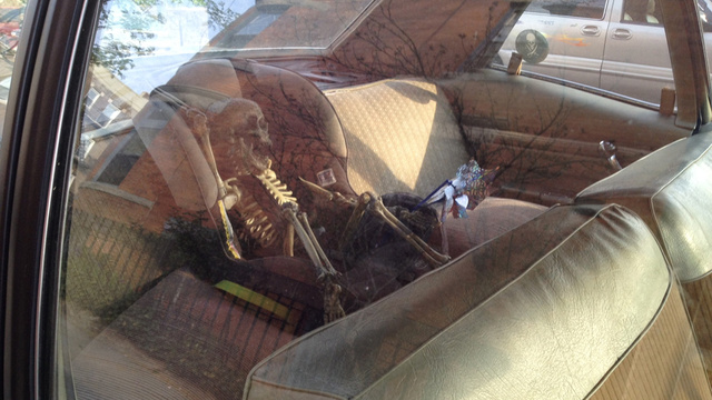 Death Metal Parenting 101: Leave A Skeleton In A Child Seat To Teach Neighbors About Safety