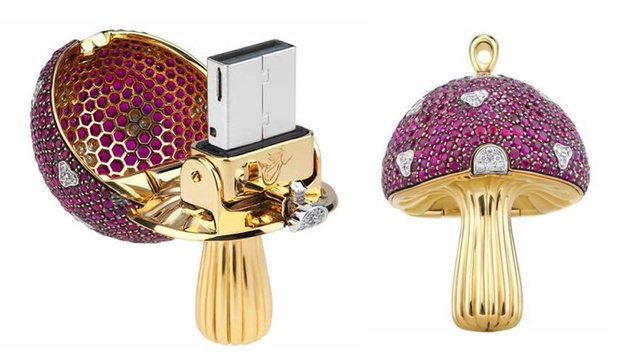 $37,000 for a Jewel-Encrusted Magic Mushroom Flash Drive? You Must Be Trippin'