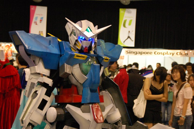 What Do You Say to a Man in a Gundam Mecha Suit?
