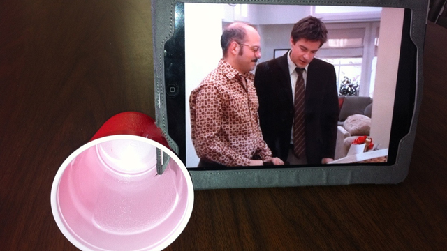 original Create a Makeshift iPad Speaker with a Solo Cup