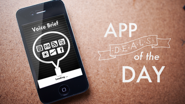 Daily App Deals: Get Voice Brief for iOS for $1.99 in Today's App Deals