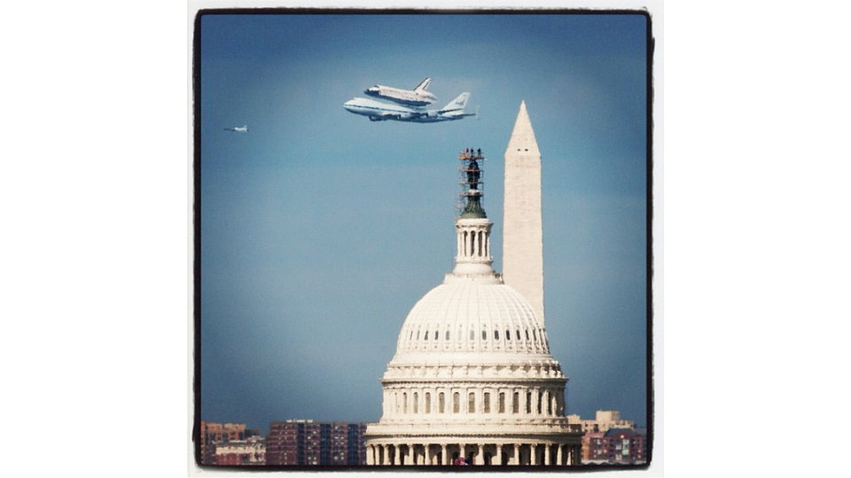 Click here to read NASA Captures Shuttle's Capitol Hill Flyby With&amp;mdash;What Else&amp;mdash;Instagram (Updated)