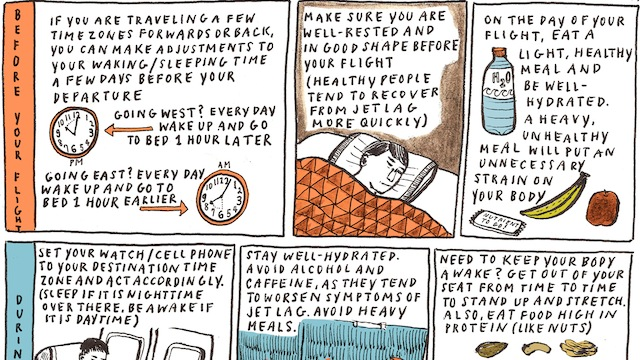 Click here to read Avoid Jet Lag with This Start to Finish Cheat Sheet