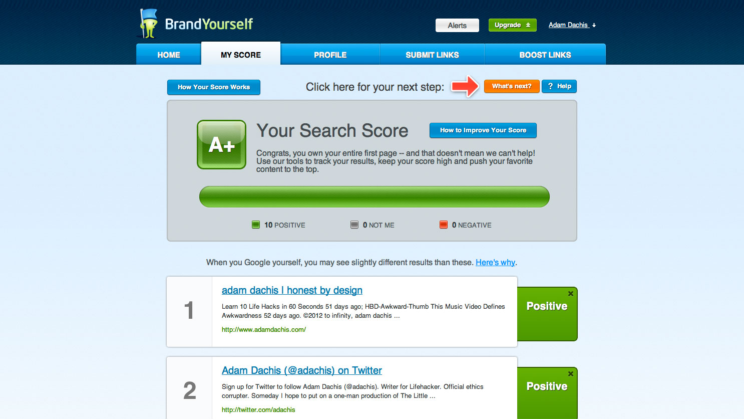 Click here to read How Well Do You Rank in Google? BrandYourself Grades Your Ego Search and Helps Improve Your Results
