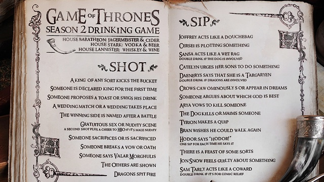 Get hammered on Tyrion's quips with the Game of Thrones drinking game