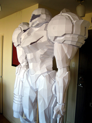 Stand in Awe of This Life-Sized Metroid Statue (Made of Paper!)