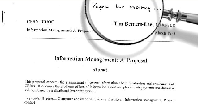 "The First Ever Proposal for the Web Was Judged ""Vague, But Exciting"""