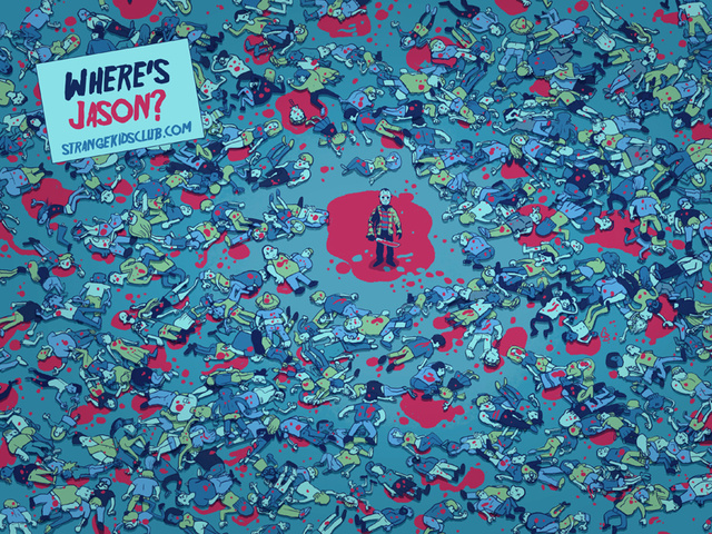 What if Where's Waldo went on a killing spree? Behold, Where's Jason!