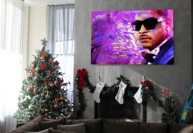 Carmelo Anthony Has A Big Painting Of Carmelo Anthony In His Living Room