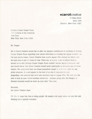 Jaguar's Real Ad Agency Sent Mad Men's Don Draper A Fake Letter