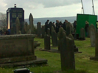 Doctor Who Cemetery Filming Photos