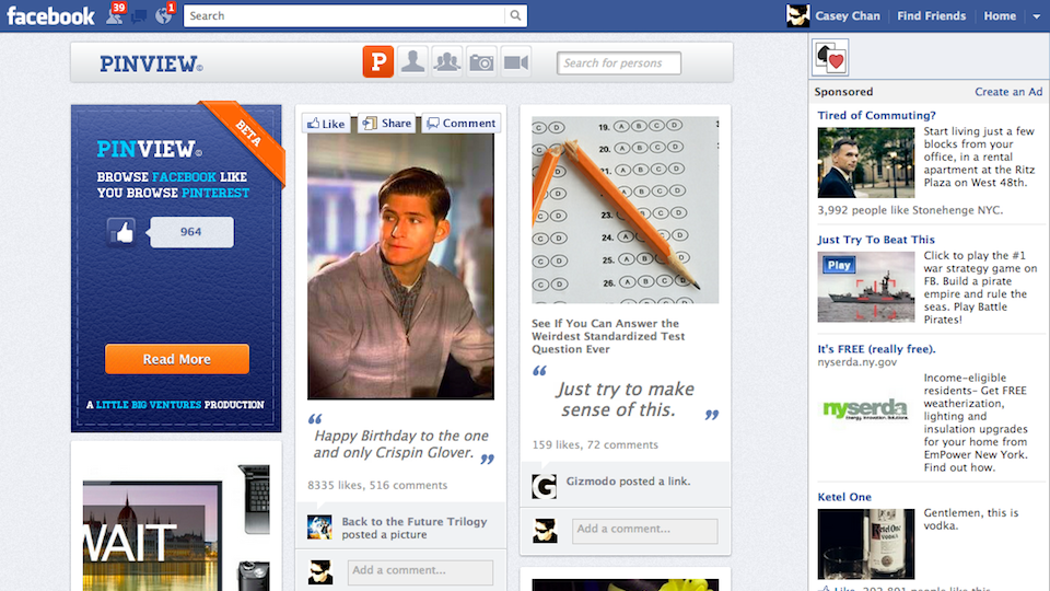 How To Make Your Facebook Profile Look Like Pinterest | Gizmodo ...