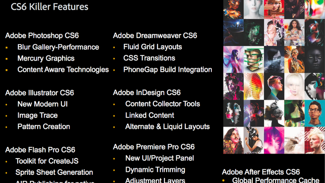 Adobe Creative Cloud and Creative Suite 6 Are Out