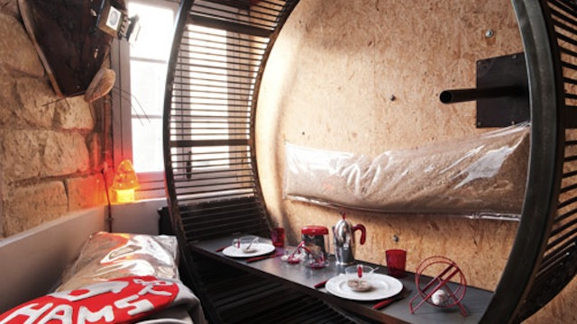 Hamster hotel lets you live like a giant rodent