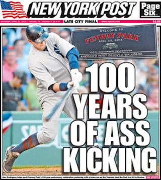 New York Post Front Page Kicks Nonsensical Ass