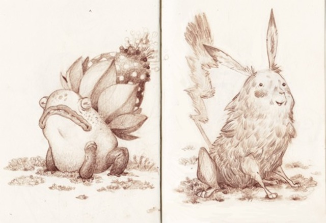 Naturalist illustrations depict Pokemon in the wild