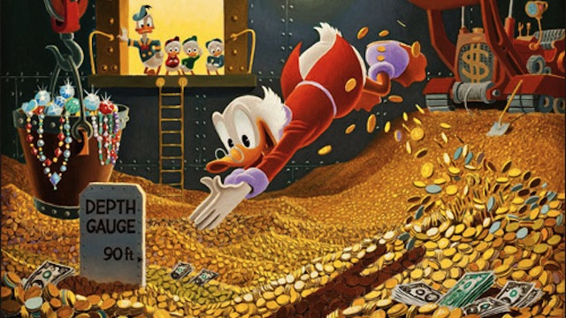How Much Money Do You Need to Do Scrooge McDuck's Money Swim?