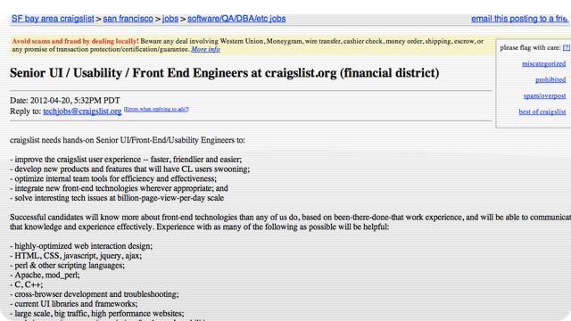 Click here to read Is Craigslist Going to Redesign Its Layout?