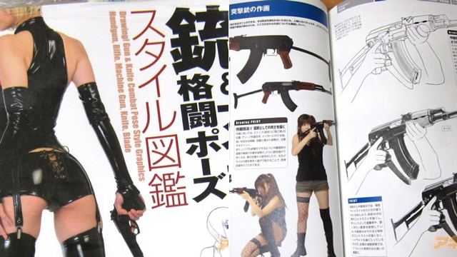 Manga Girls Show Improper Gun and Knife Use