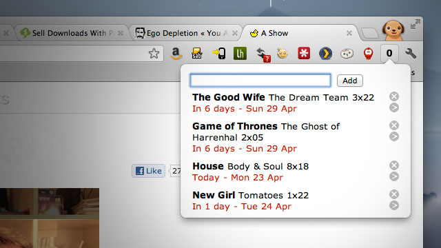 Click here to read My Episode Guide Tracks the Air Dates of Your Favorite TV Shows Right From Your Toolbar